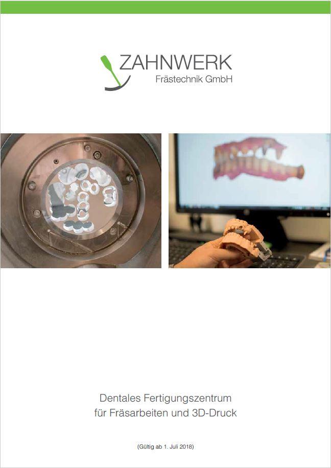 Zahnwerk Preisliste