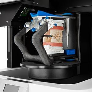 Hier ist der Scanner Vinyl von smart optics mit Scanobjekt zu sehen