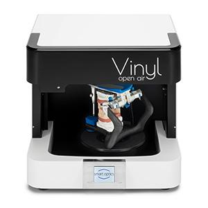 Hier ist der Scanner Vinyl Open Air von smart optics mit einem Scanobjekt zu sehen